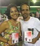 Os premiados Amanda (Coreógrafa) e Flávio Lins (Carnavalesco) do Prêmio Elite do Samba 2016