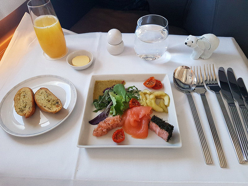 Singapore Airlines in-flight meal