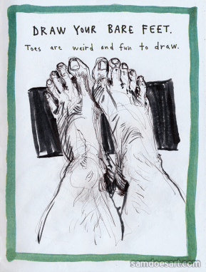Done in a copy of The Daily Artist by Marc Johns
