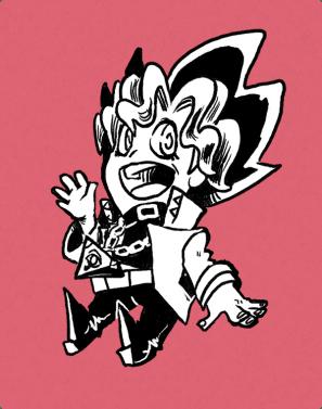 Fan art of Yugi from Yu-Gi-Oh!