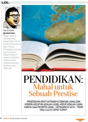 LOL Column - Male Magazine - edition 026