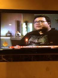 Not a slim boy -- interviewed by Aljazeera TV