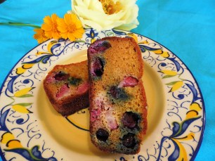 SCD Paleo Red White and Blueberry Bread