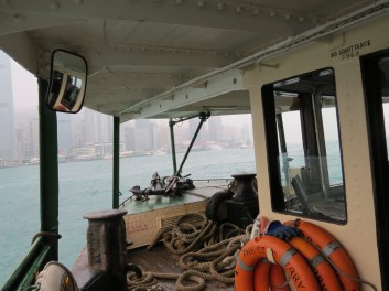 The view from the front of the Star ferry.