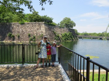 At the outer moat - the castle has two, though a section of it is dry (and no one knows why).