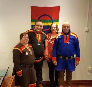 Medlemmer i Hinnøy SFF. (fv),Liv Slettli,Eskil Pedersen,Merete Espejord og Per Martin Espejord.