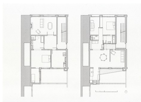 Floorplan before and after renovation