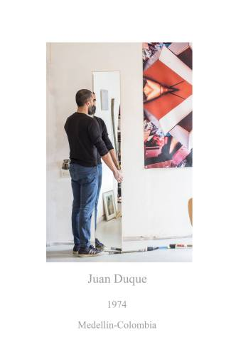 Photos showing artist Juan Duque in the apartment - project Workplaces by photographer Alexandra Colmenares Cossio