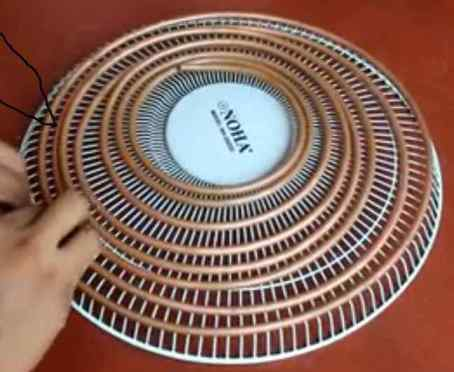 copper pips fasten with fan cover