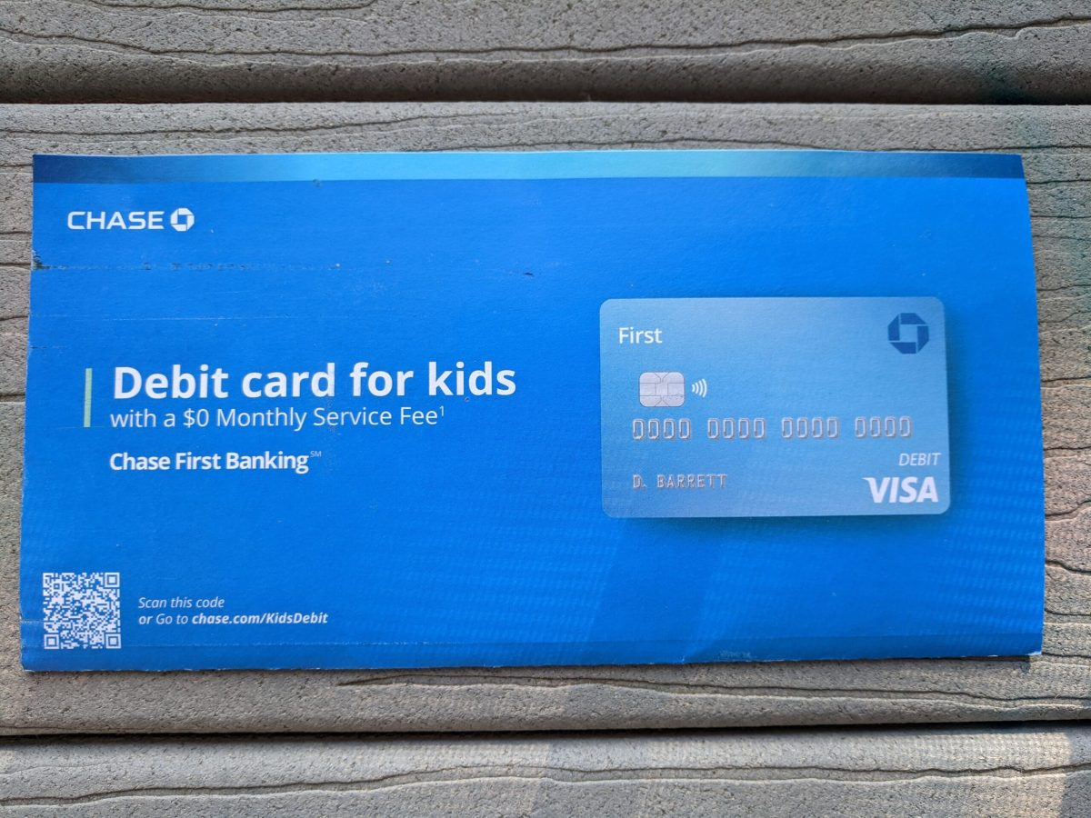 a piece of mail from Chase Bank