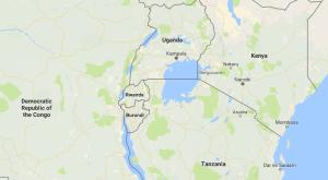 Rwanda next to Lake Victoria