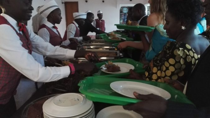 Traditional Ugandan wedding food