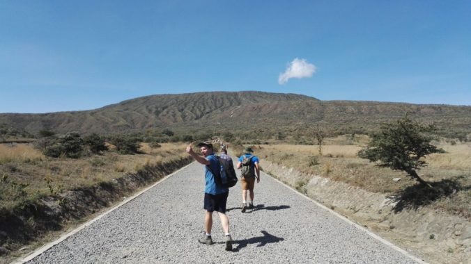 Setting off to climb Mount Longonot