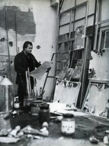Francis in Arcueil studio, Paris.