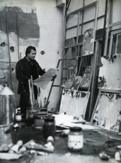 Francis in Arcueil studio, Paris.