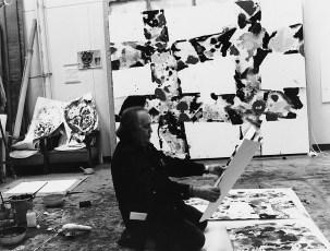 Francis in Akasaka studio, Tokyo