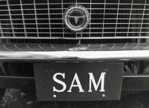Francis's license plate on his car