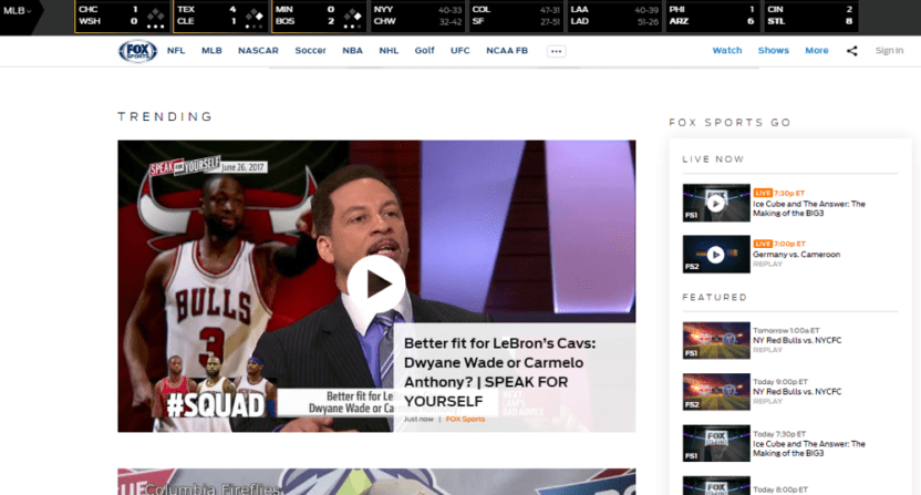 FoxSports.com lost 88% of its pageviews after switching to all video