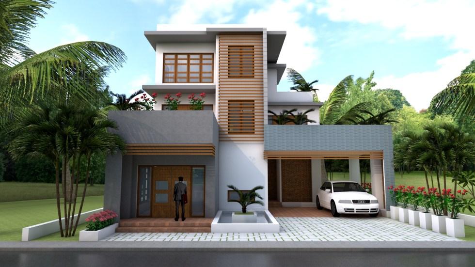 House Plans 11x12m Exterior