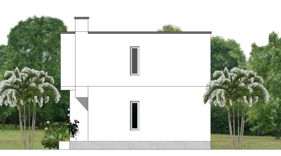 House Plans 6.5x7.5M with 2 Bedrooms right