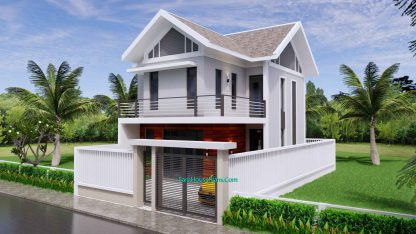 Sketchup Home Design Plan 6.5x9m with 2 Bedrooms 1