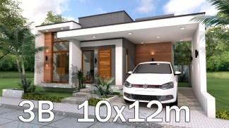 Home Plan 10x12m 3 Bedrooms