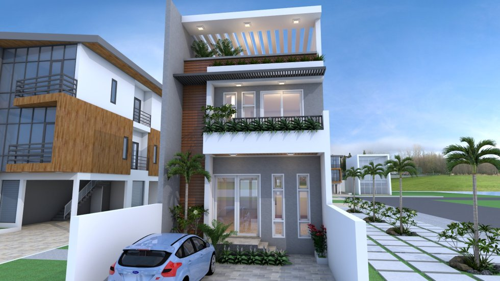 House Plans 6x20 with 5 Bedrooms