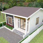 House Plans 6x7m with 2 bedrooms 20x23 Feet Pdf Full Plan 1 2