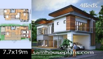 House Plans Idea 7x11 M With 4 Bedrooms Samhouseplans