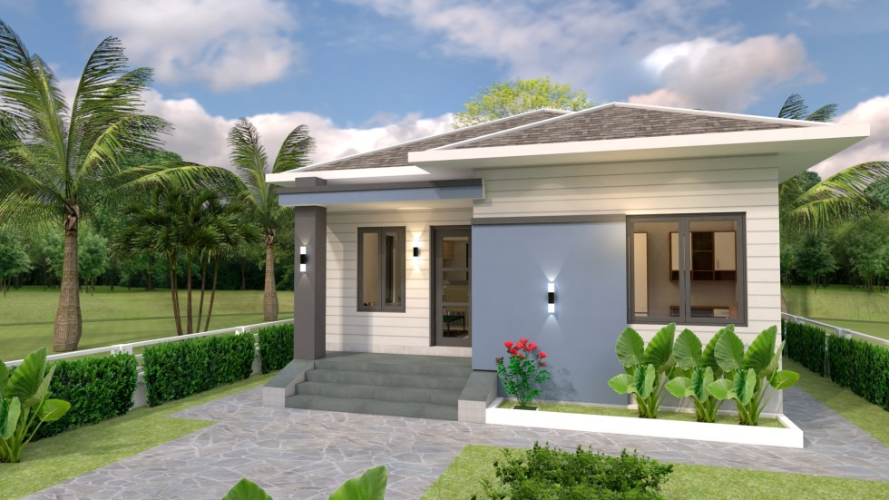 House plans 7.5x8.5m with 2 bedrooms 25x29 Feet 1