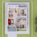 House plans 7.5x8.5m with 2 bedrooms Floor plan