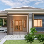 House Plans 10x11 with 3 Bedrooms Roof tiles 2