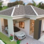 House Plans 10x11 with 3 Bedrooms Roof tiles 3