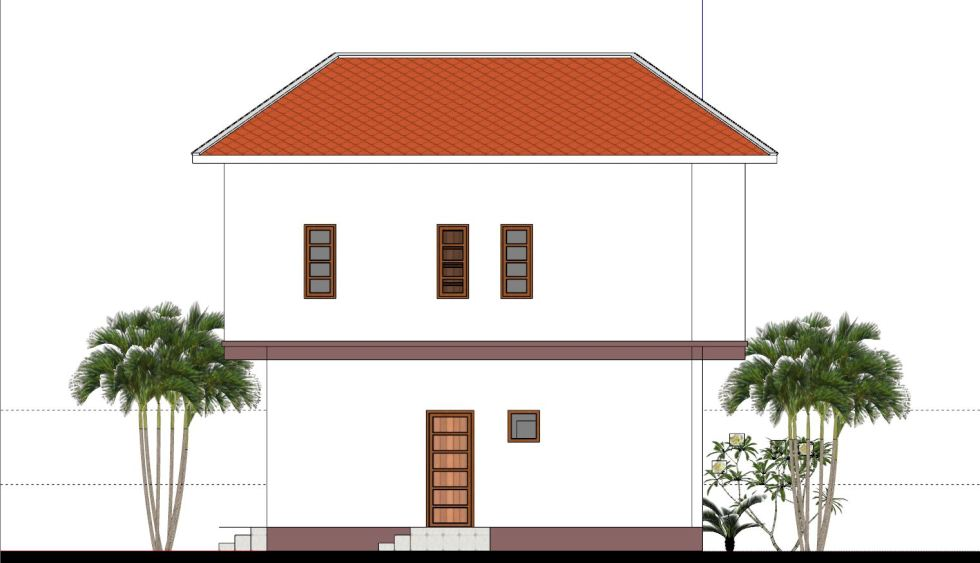 House Plans 8x7 with 2 Bedrooms back