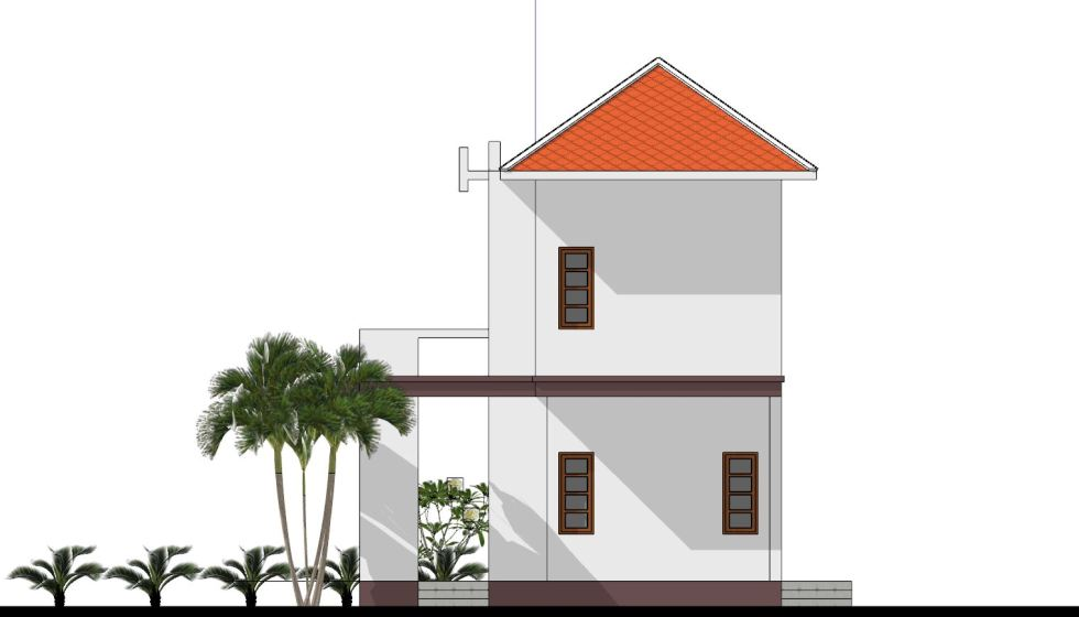 House Plans 8x7 with 2 Bedrooms right