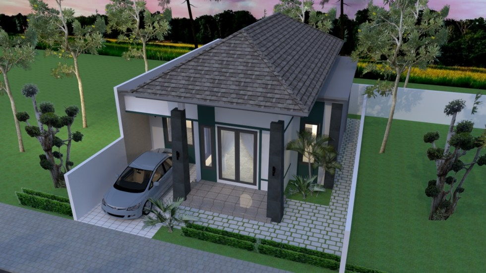 House Plans 10x15 with 3 Bedrooms roof