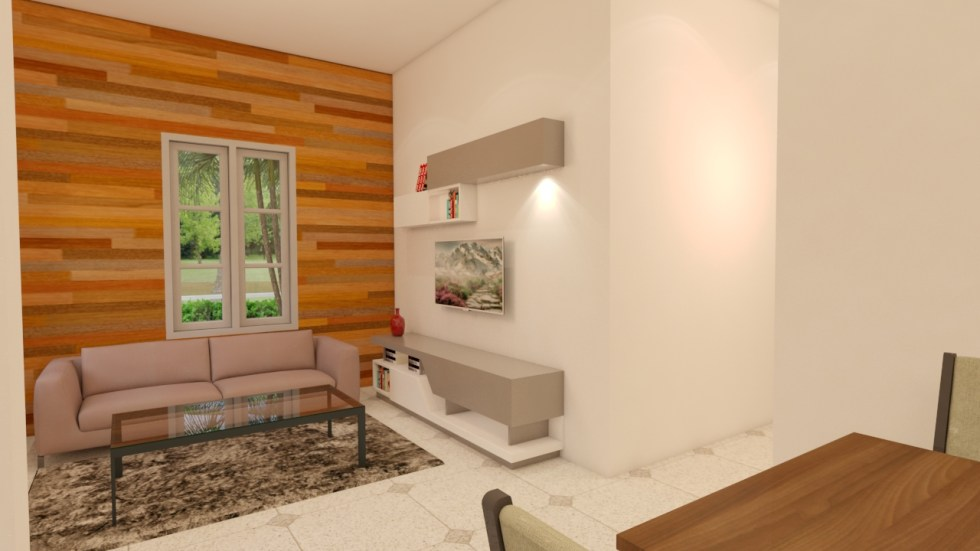 House Plans 7x10 with 3 Bedrooms living room
