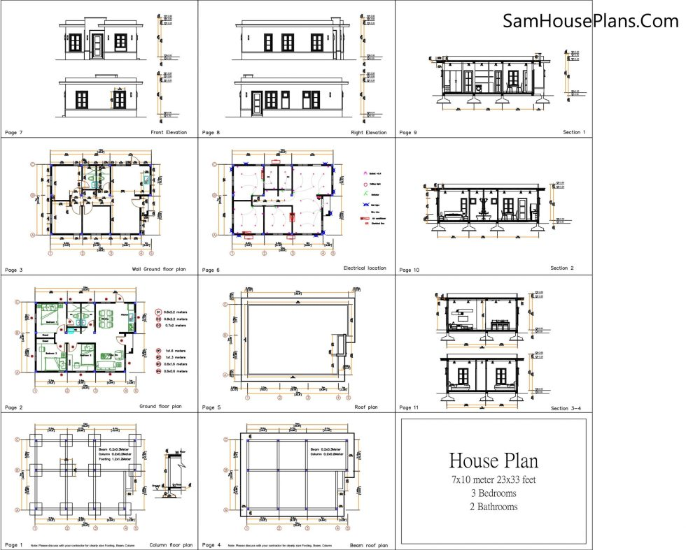 The PDF Layout Plans Small House Plan 8x12: YOU WILL RECIEVED THE DETAILING AS BELOW AFTER BUYING THIS PLAN Buy this house plan: This is a PDF Plan available for Instant Download. 2-Bedrooms 1-Bath home with mini washer/dryer room. Building size: 27 feet wide, 40 feet deep 8x12 Meters Roof Type: Terrace roof (Concrete cement, zine, cement tile or other supported type) Foundation: Concrete or other supported material For the reverse plan, please see other Model. PLANS INCLUDE: Footing, Beam, Column Location plan Exterior / Interior wall Dimension Plan Roof Beam Plan Roof Plan Elevations plans 4 Cross Section plans Ceiling Lighting, wall light, socket, and switcher location Plan You are purchasing the PDF file for this plan. Print it out whenever you like, as many times as you like. Plan prints to A4 paper. CUSTOM PLANS: Unfortunately I'm unable to do custom plans at this time. DISCLAIMER: These plans were produced by myself and were not prepared by nor checked by a licensed architect and/or engineer. I do not represent nor imply myself to be a licensed architect and/or licensed engineer. Enjoy these plans but use them at your own direction. Delivery Instant Download Your files will be available to download once payment is confirmed. Here's how. I don't accept returns, exchanges, or cancellations. But please contact me if you have any problems with your order. Your could Reach Us: Personal FB:Sophoat Toch Facebook Page: Sam Architect Facebook Group:Home Design Idea More Plans Download On Youtube:House Plans Channel If you think this Plan is useful for you. Please like and share. 4.5x12 Small House Plans 2 Beds Gable Roof Full Plans(Opens in a new browser tab) 40x40 House Plans 12x12 meters 2 beds PDF Floor Plans(Opens in a new browser tab) House Design Plans 12x12 Hip Roof 2 Bedrooms(Opens in a new browser tab) Beautiful House Plans 12x12 Meter 4 Bedrooms Hip roof 40x40 Feet Nice House Plans 12x12 Meter 4 Bedrooms Gable roof 40x40 Feet Best House Plans 12x12 Meter She