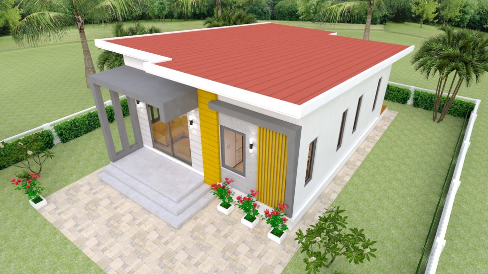 House Design Plans 7x12 with 2 Bedrooms Full Plans Free download 4