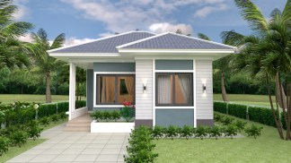 House Plans 7x7 with 2 Bedrooms full plans 24x24 Feet 2 Beds 1