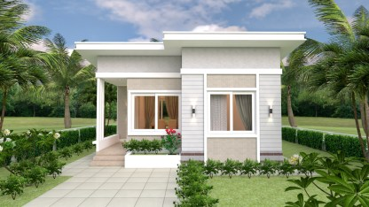 Small House Design Plans 7x7 with 2 Bedrooms 2