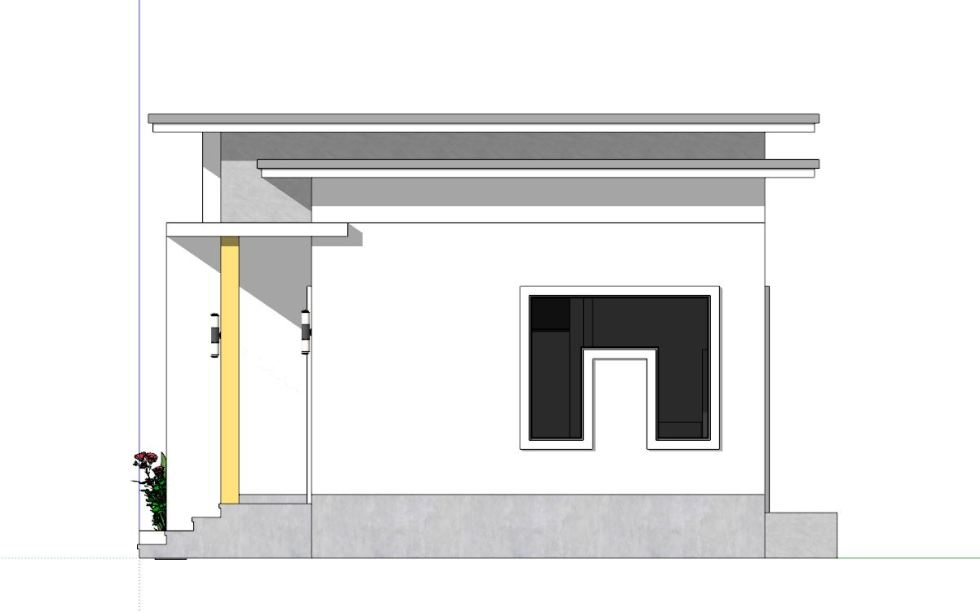 Small House Plans 6x6 with One Bedrooms Flat Roof