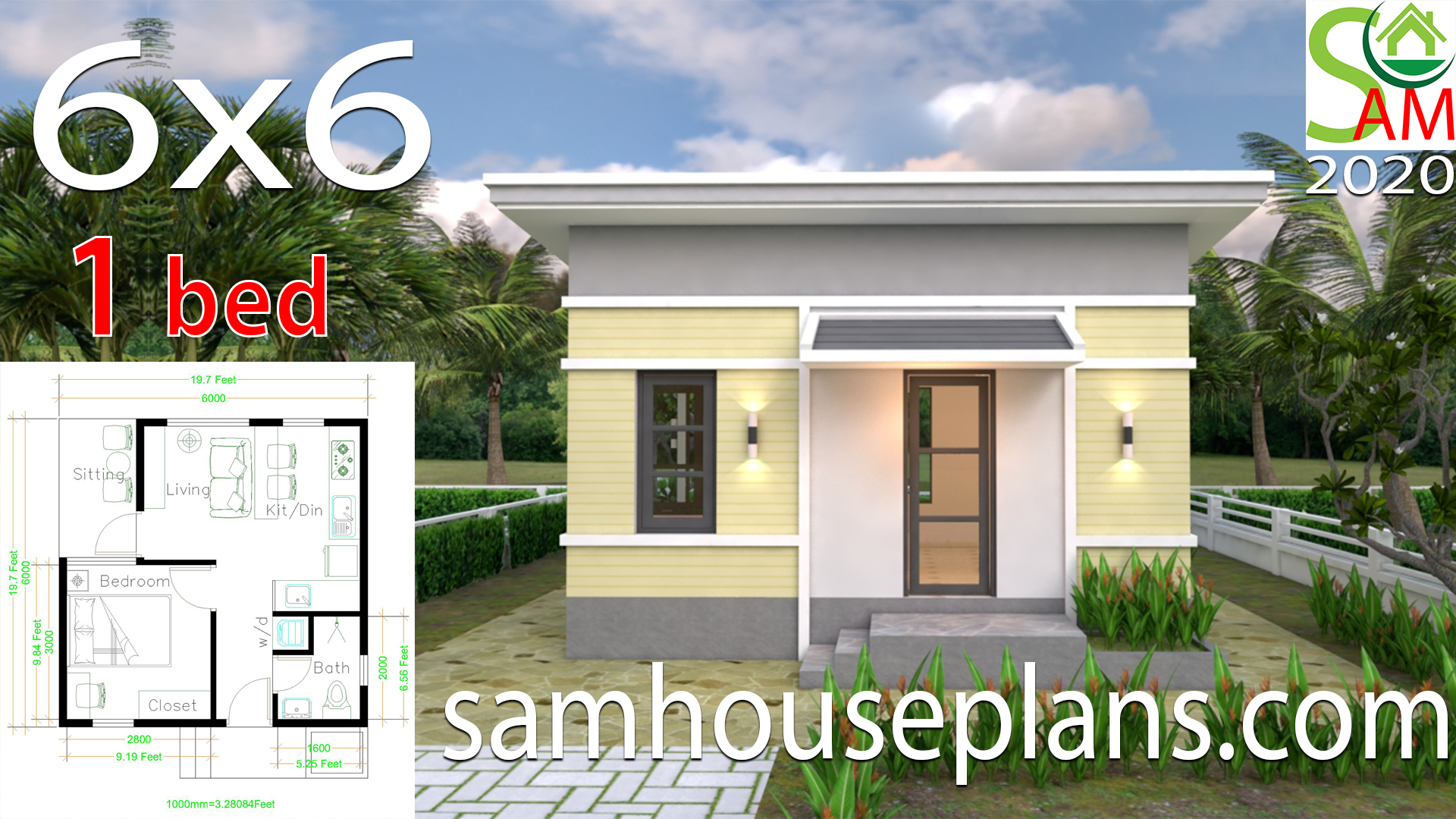 One Bedroom House Plans 6x6 With Shed Roof Samhouseplans