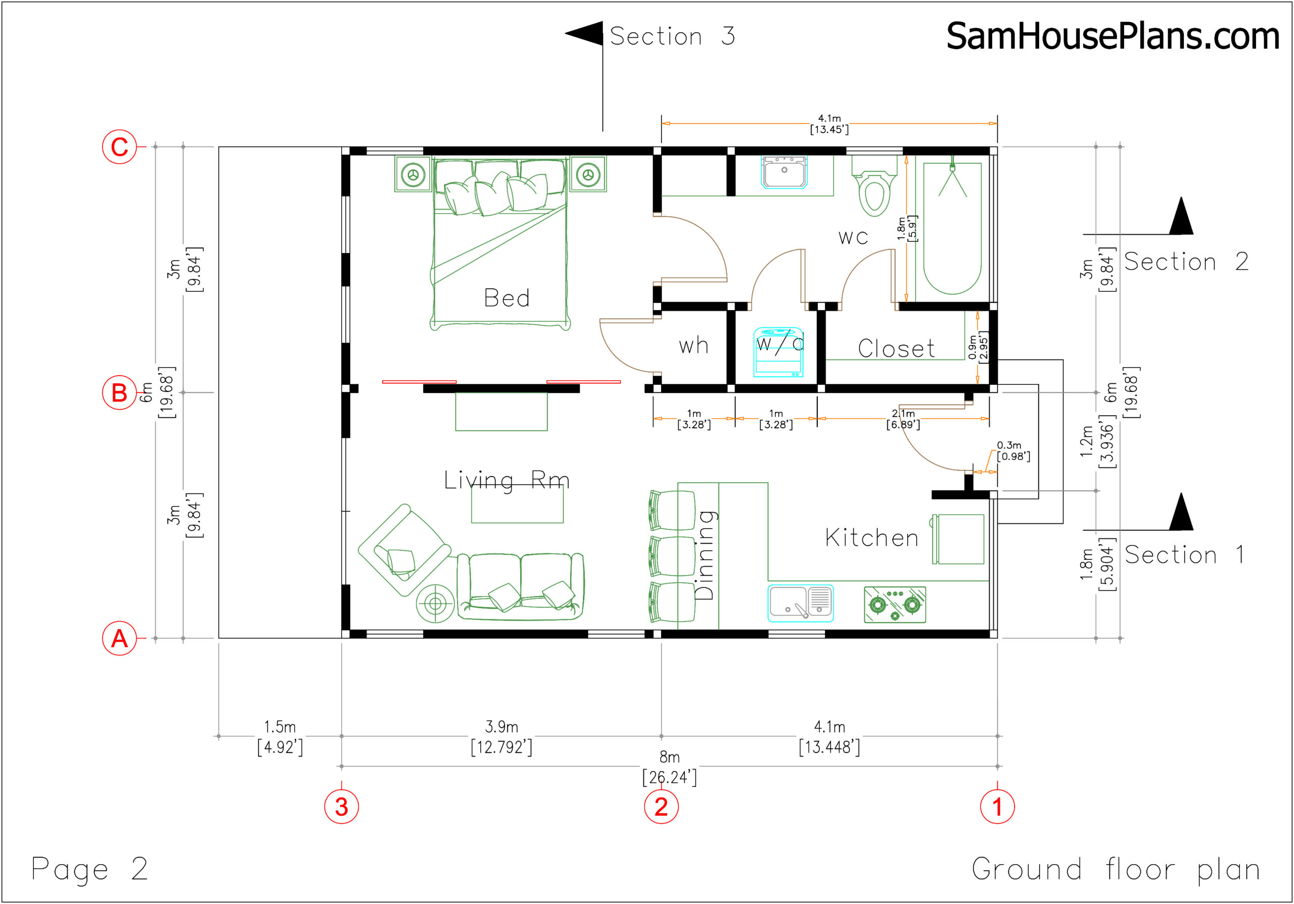 Studio House Plans 6x8 Shed Roof