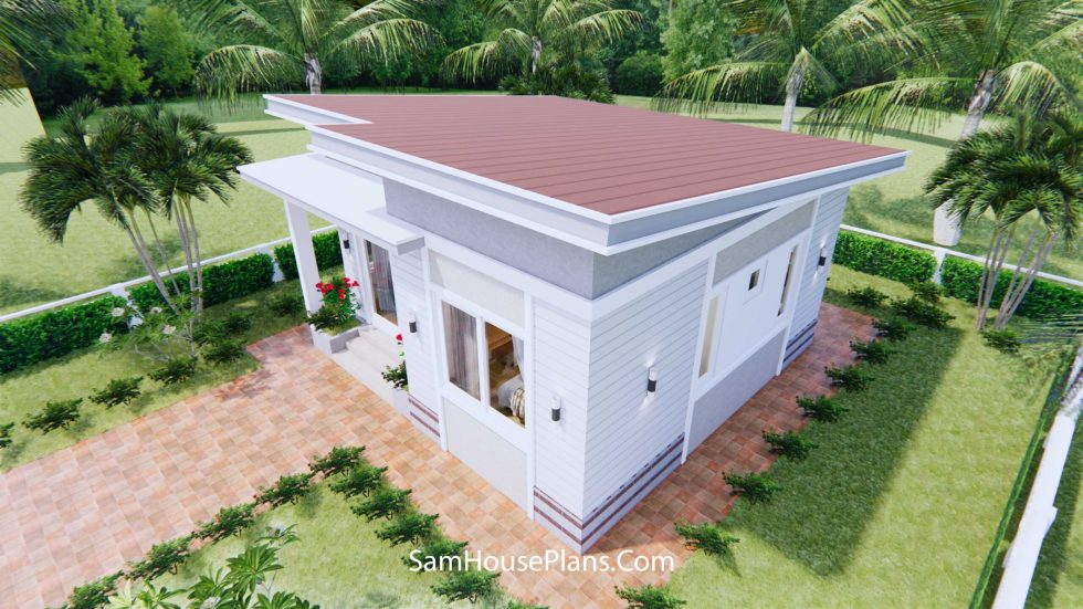Small house design 7x7 Meters 24x24 Feet