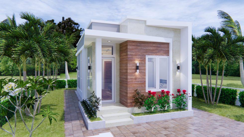 Tiny House Plans 4x9 Meters 2 Bedroom Terrace Roof Samhouseplans