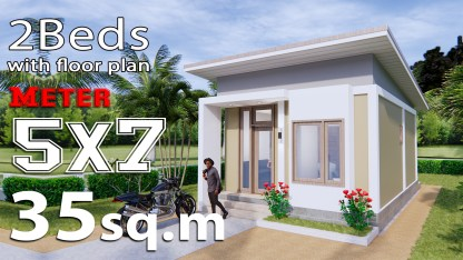 Small House Design 5x7 Meters (35sq.m)