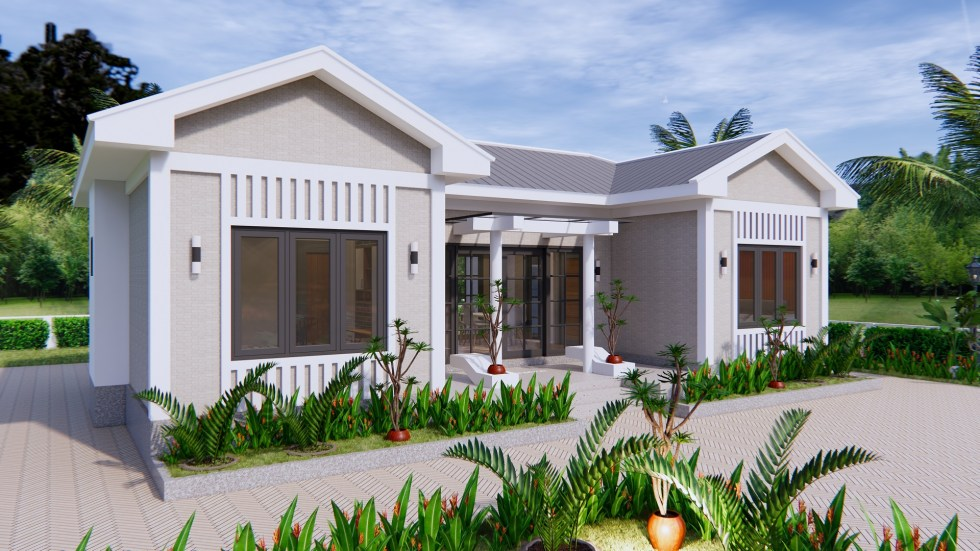 Modern Architecture Homes 13x7.5 Meter 43x25 Feet 3 Beds 2