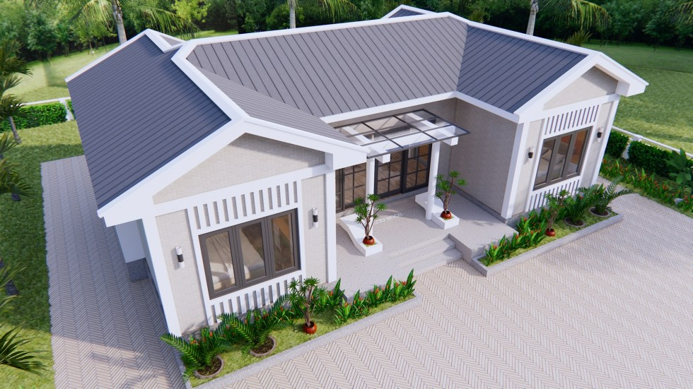 Modern Architecture Homes 13x7.5 Meter 43x25 Feet 3 Beds 3
