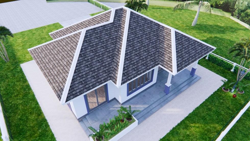 3d Floor Plan 12x9 Meter 40x30 Feet 2 Beds 5